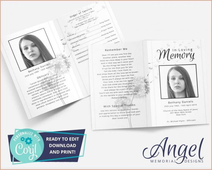 Funeral Card Templates Microsoft Word Free