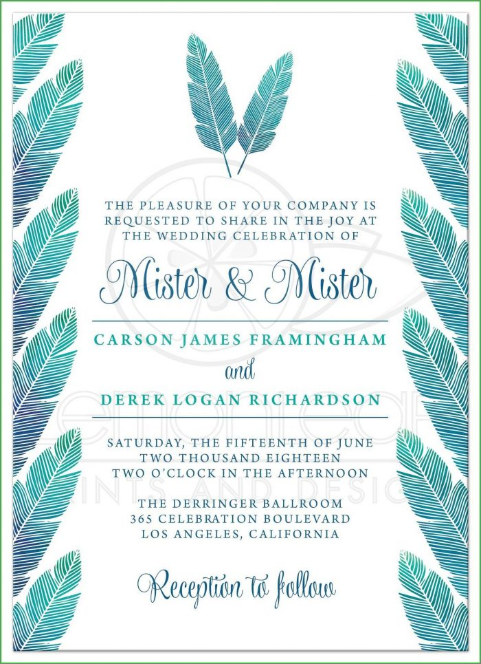 Gay Wedding Invitation Templates Free