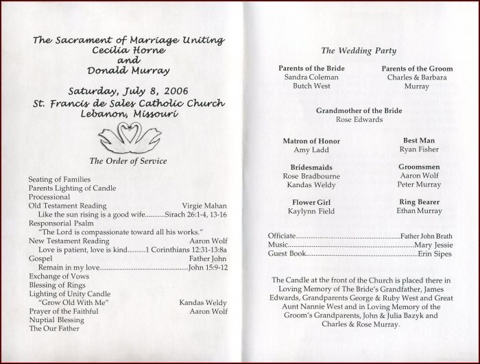 Greek Orthodox Wedding Ceremony Program Template