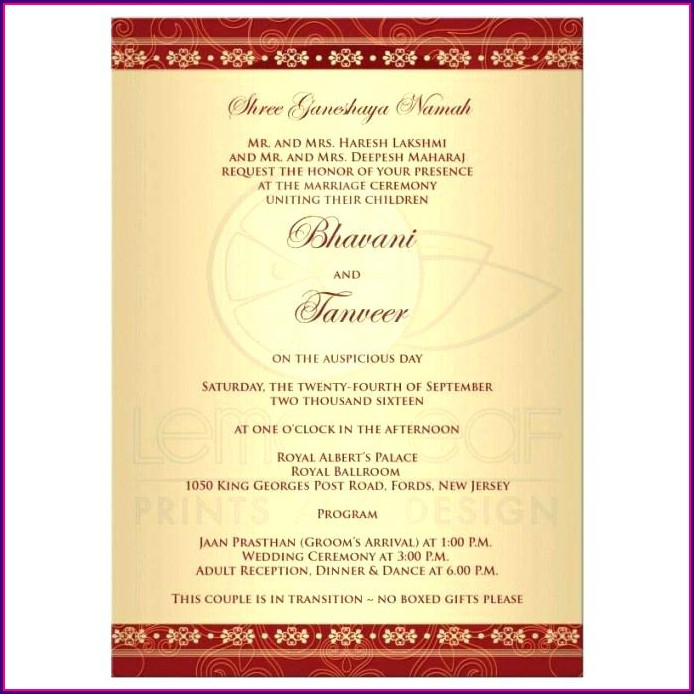 Hindu Wedding Card Templates Psd