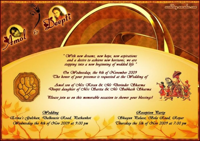Hindu Wedding Invitation Templates Free Download