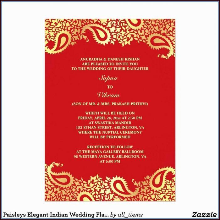Hindu Wedding Invitation Templates Indian