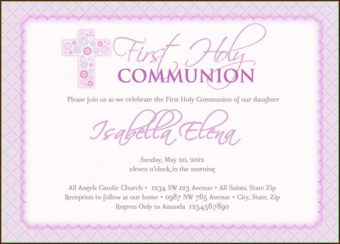 Holy Communion Invitation Templates