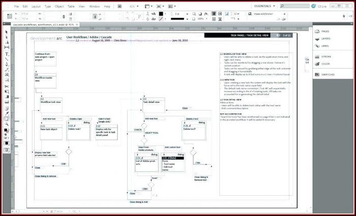 Indesign Website Wireframe Template