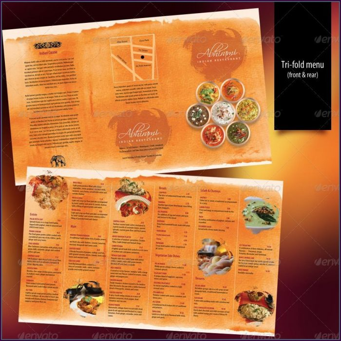Indian Restaurant Menu Design Template