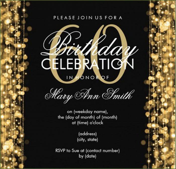 Invitation Card 60th Birthday Template