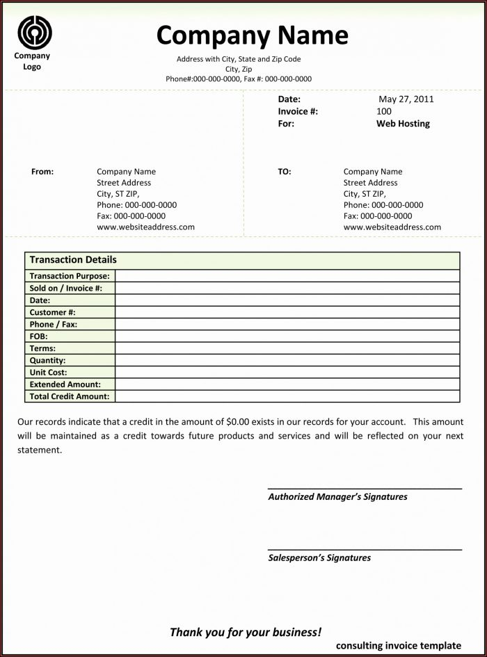 Invoice Template For Software Development Services