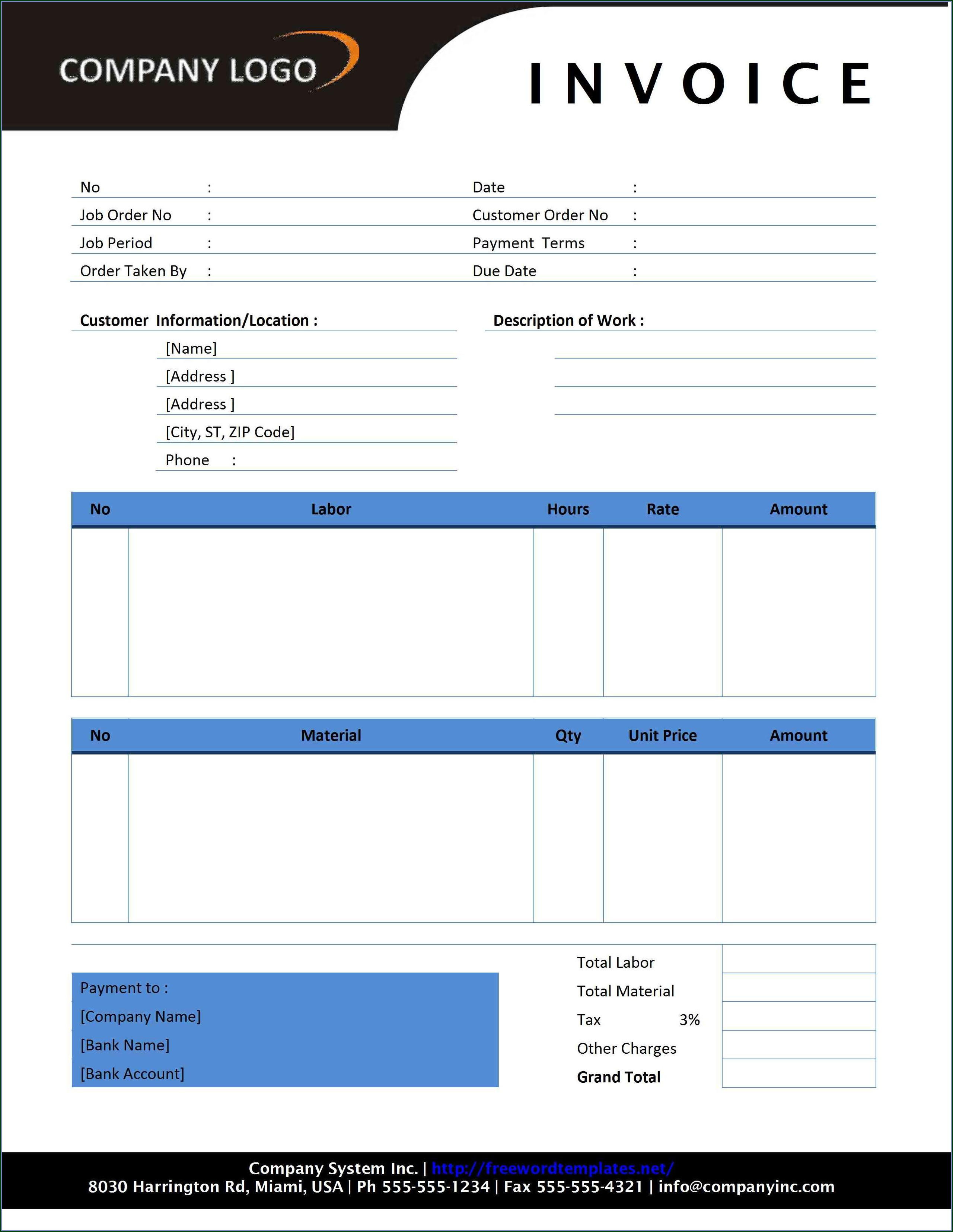 Invoice Template For Tutoring Services