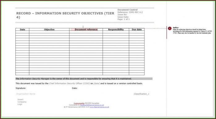 Iso 27001 Policy Templates