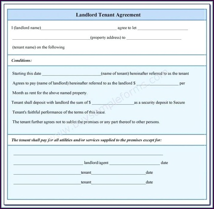 Landlord Tenant Contract Template