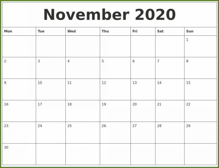 Large Print Calendar Templates 2020