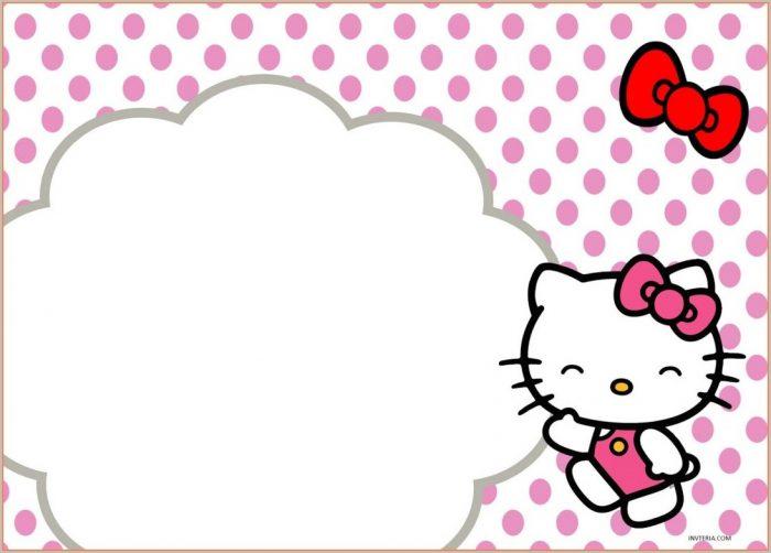 Layout Hello Kitty Invitation Template Blank