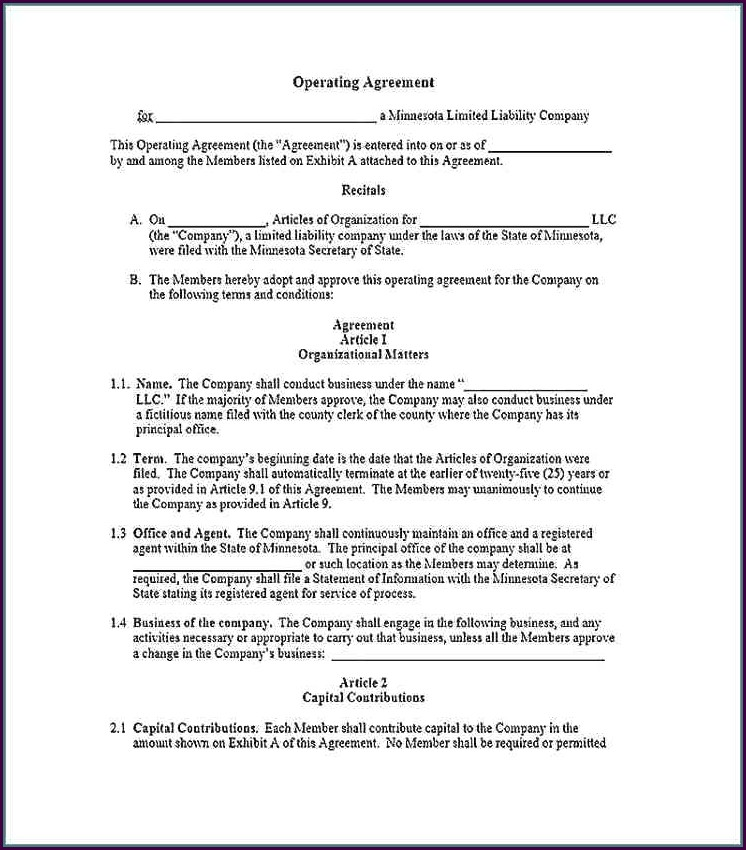 Llp Agreement Template India