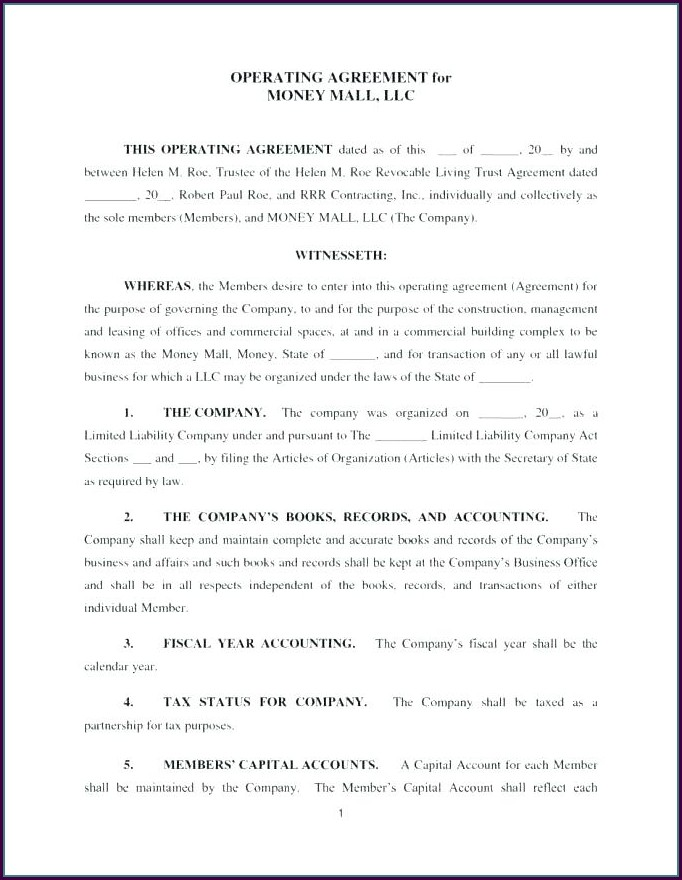 Llp Agreement Template Malaysia