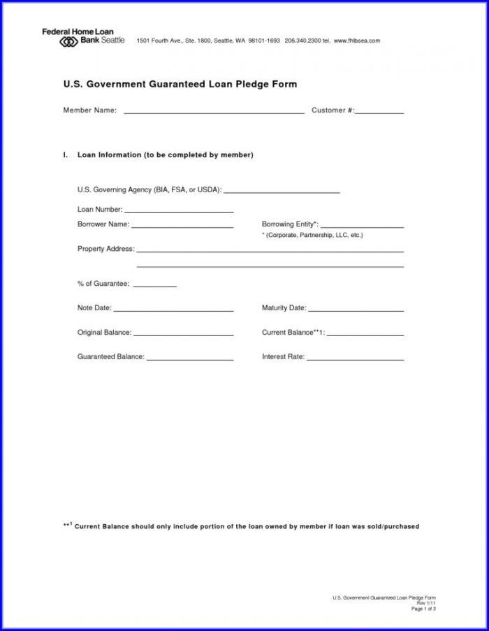 Loan Contract Free Loan Agreement Template Pdf