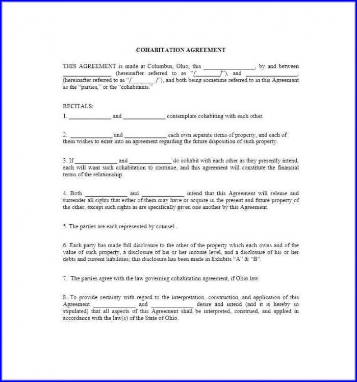 Marriage Separation Free Separation Agreement Template Ontario Pdf