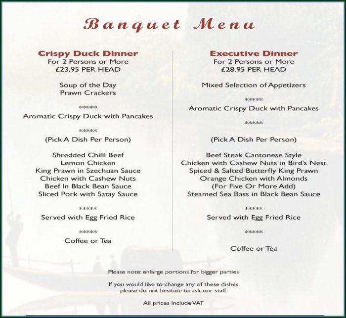 Medieval Banquet Menu Template