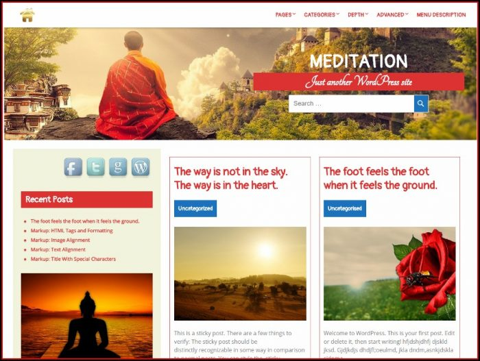 Meditation Website Templates Free Download