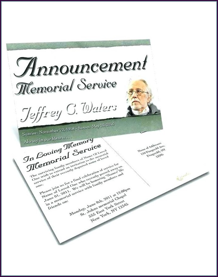 Memorial Service Funeral Guest Book Template