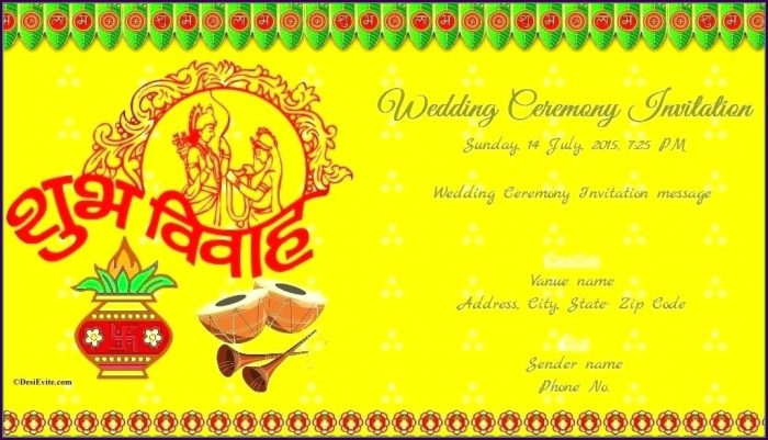 Modern Hindu Wedding Card Templates