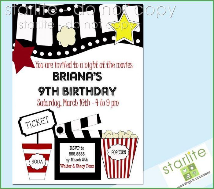 Movie Night Party Invitation Template Free