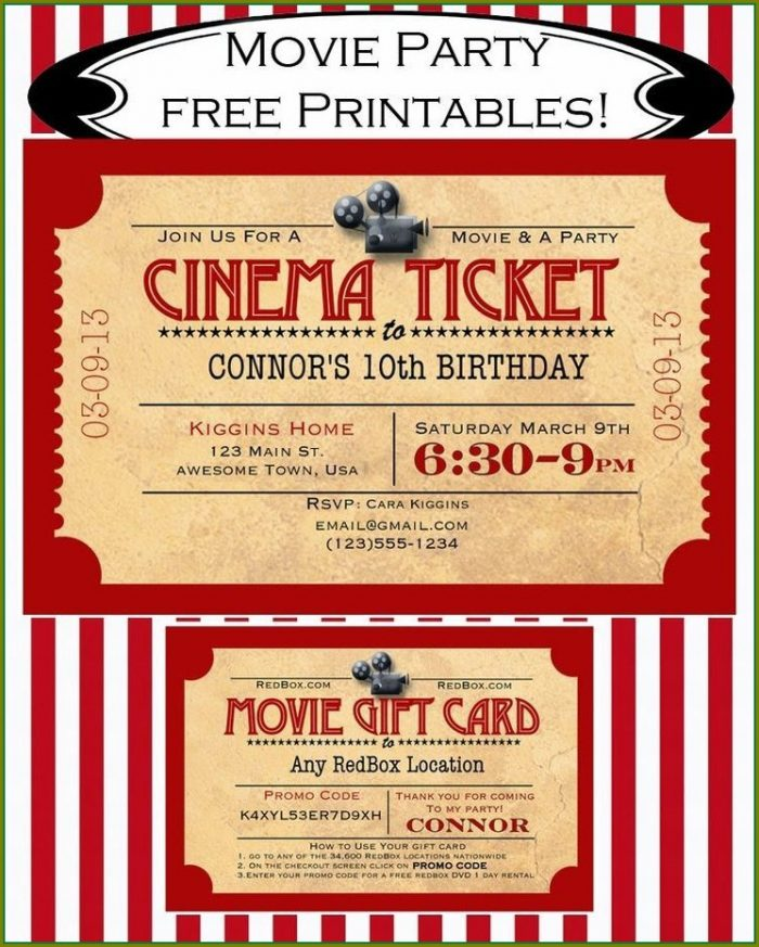 Movie Party Invitation Template