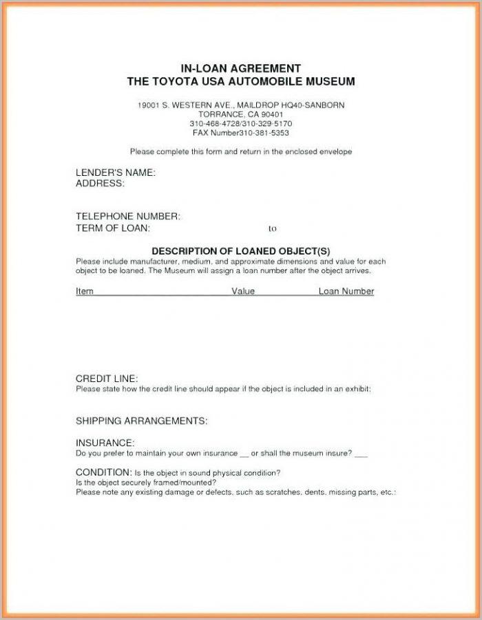 Museum Loan Agreement Template