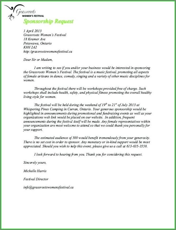Non Profit Donation Request Letter Template Word