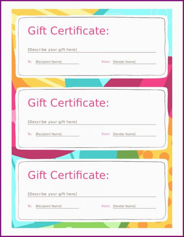 Online Gift Certificate Template