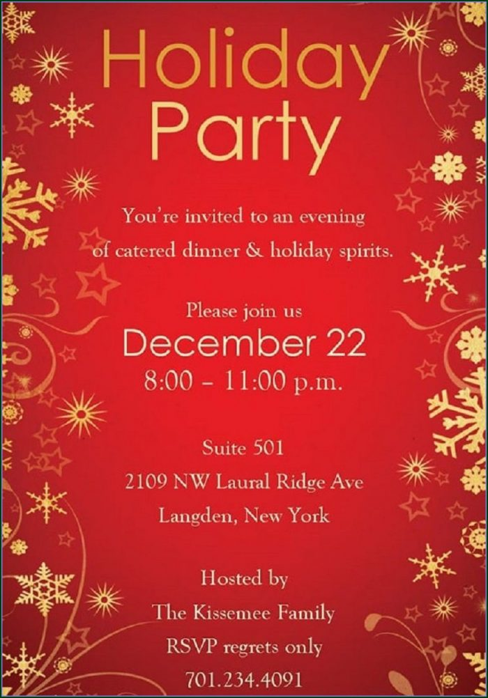 Party Flyer Templates Downloadable Free Christmas Party Invitation Templates