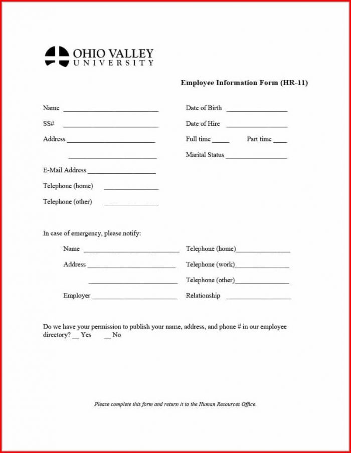 Payroll Deduction Form Template Canada