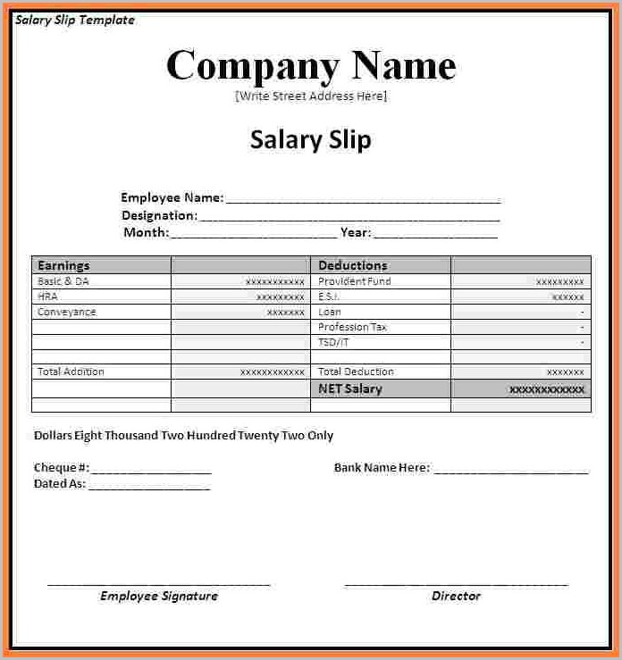 Payroll Invoice Template