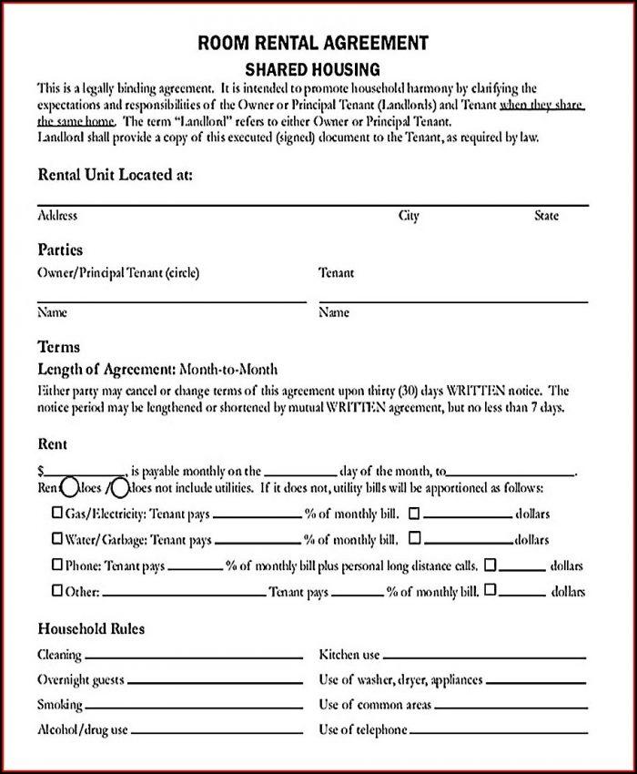 Pdf Free Rental Agreement Template