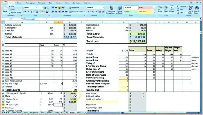 Performance Review Employee Database Excel Template