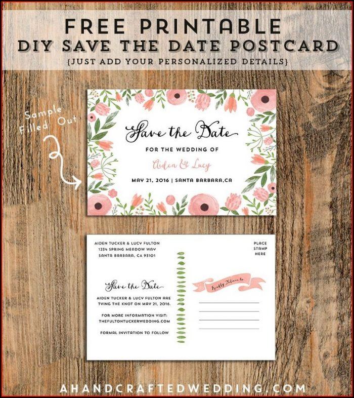 Postcard Invitations Templates Free
