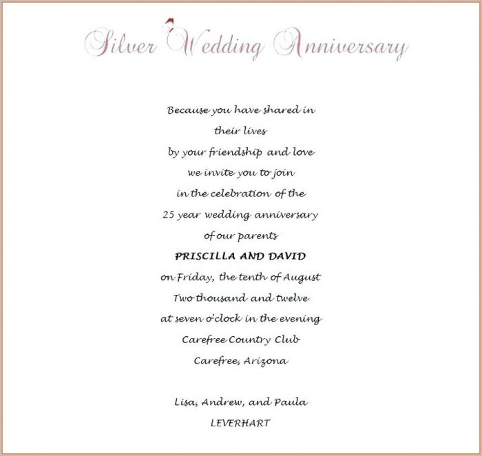 Printable 50th Wedding Anniversary Invitations Templates Free Download