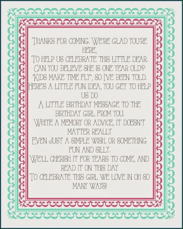 Printable Birthday Guest Book Template