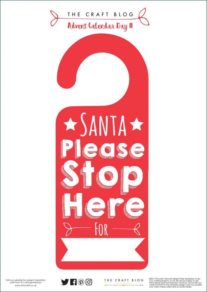 Printable Christmas Door Hanger Template