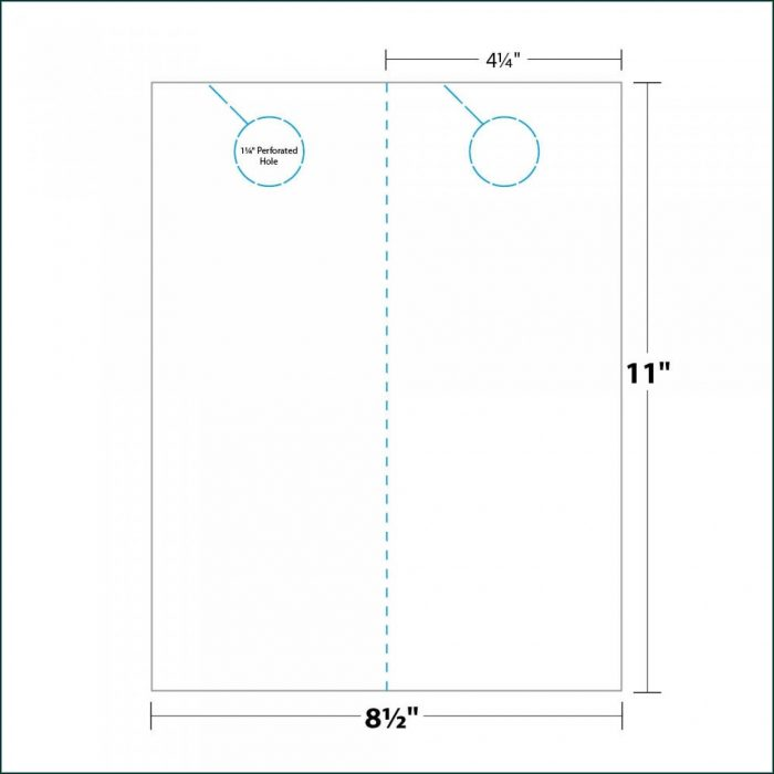 Printable Door Knob Hole Template