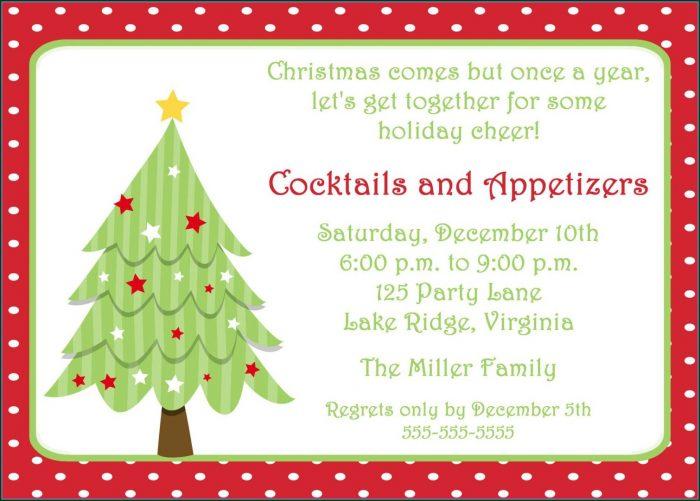 Printable Free Holiday Party Invitation Templates