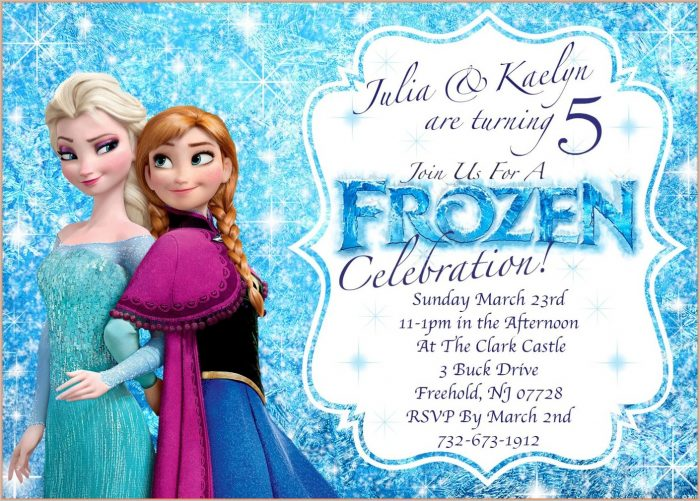Printable Frozen Birthday Invitation Template Free