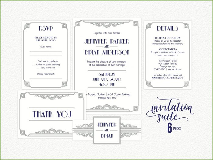 Printable Gatsby Invitation Template
