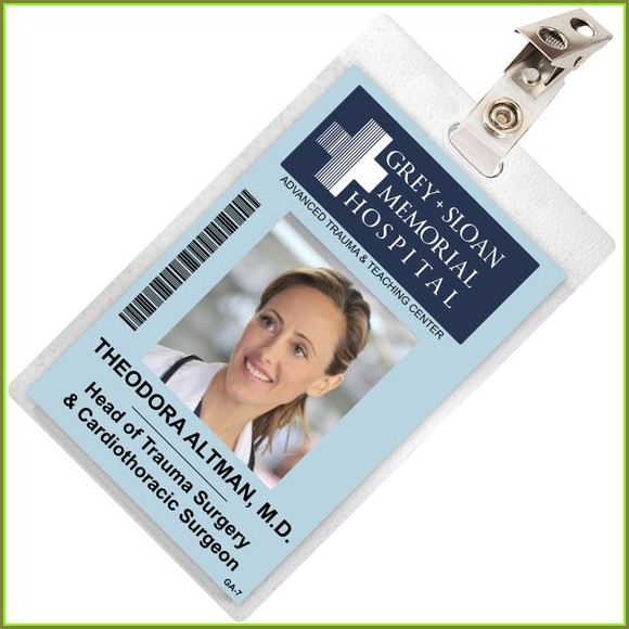 Printable Grey's Anatomy Id Badge Template