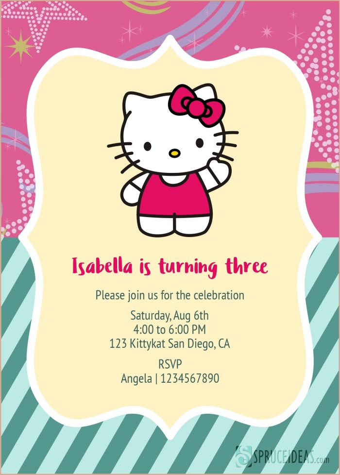 Printable Hello Kitty Invitation Template