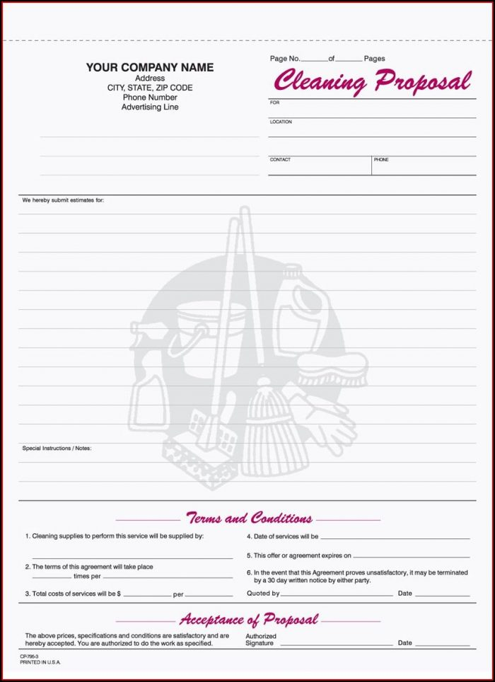 Printable House Cleaning Contract Template