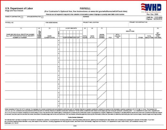 Printable Payroll Deduction Form Template