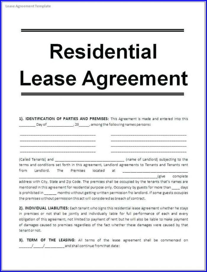 Printable Trailer Lease Agreement Template Free