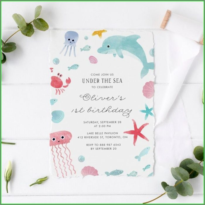 Printable Under The Sea Invitation Template