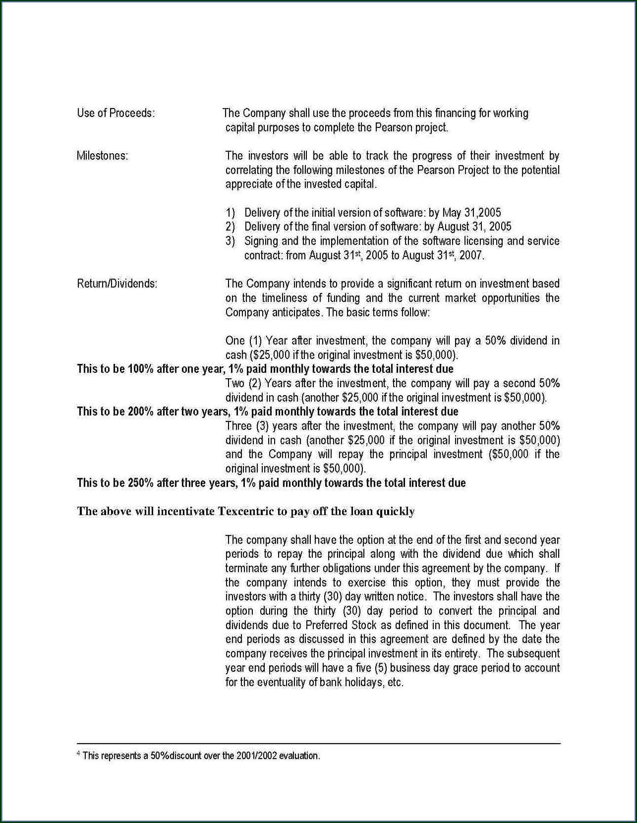 Private Placement Memorandum Template Free Download
