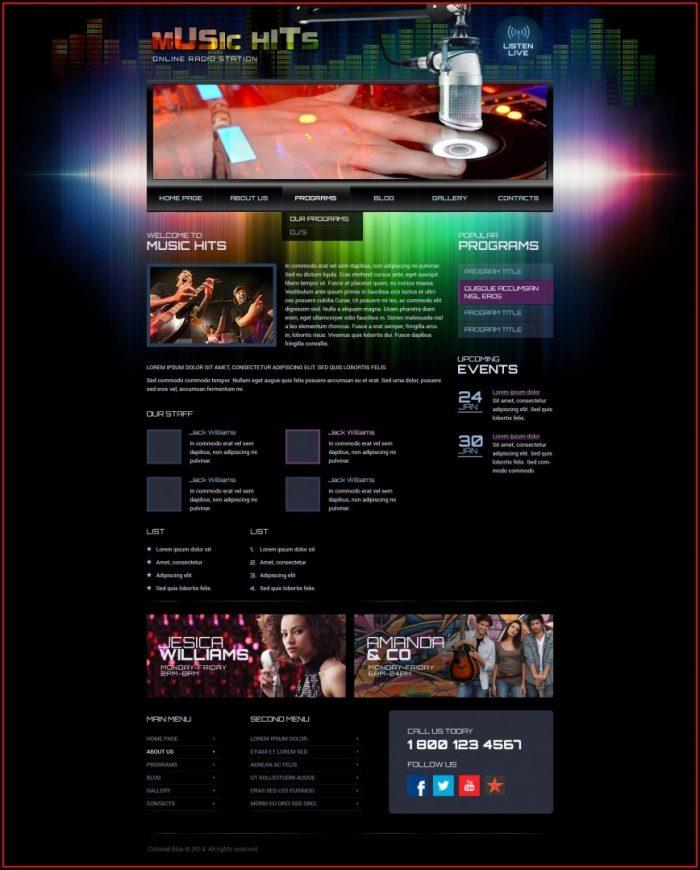 Radio Station Website Templates